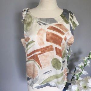 MAEVE asymmetrical silk blouse 100% silk M